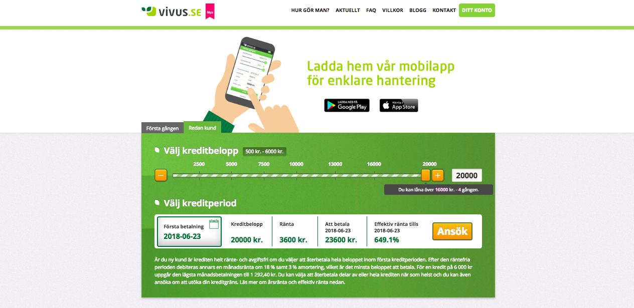 Vivus erbjuder sina kunder kreditupplysning utan UC!